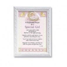 Baptismal Prayer Framed Print Girl