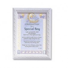 Baptismal Prayer for a Special Boy Print Wall Decor