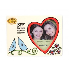BFF BLESSED FRIENDS FOREVER colorful ceramic frame