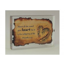 RECTANGULAR CRYSTAL BLOCK HEART, PROV 4:23