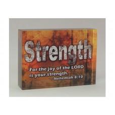 RECTANGULAR CRYSTAL BLOCK STRENGTH, NEH 8:10