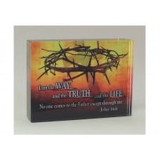 RECTANGULAR CRYSTAL BLOCK WAY, TRUTH, LIFE: JN 14:6