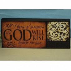 God Will Rise Mini Plaque
