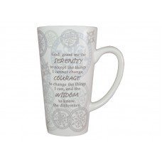 16 OZ. CAFE' LATTE MUG SERENITY COURAGE WISDOM