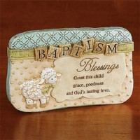 Baptism Blessings Resin Sitter Plaque