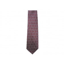 CHRISTIANS CLOSET VERTICAL FISH CRIMSON SILK TIE