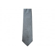 CHRISTIANS CLOSET VERTICAL FISH CHARCOAL SILK TIE